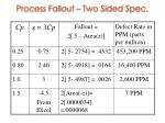 process fallout two sided spec