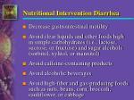 nutritional intervention diarrhea