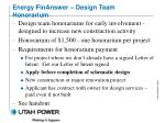 energy finanswer design team honorarium