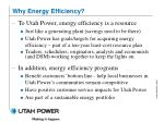 why energy efficiency