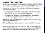 budget 2015 recap