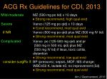 acg rx guidelines for cdi 2013