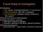 future areas of investigation