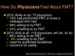 how do physicians feel about fmt