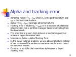 alpha and tracking error1
