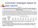 contrarian strategies based on past returns