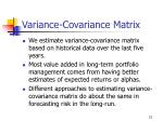 variance covariance matrix