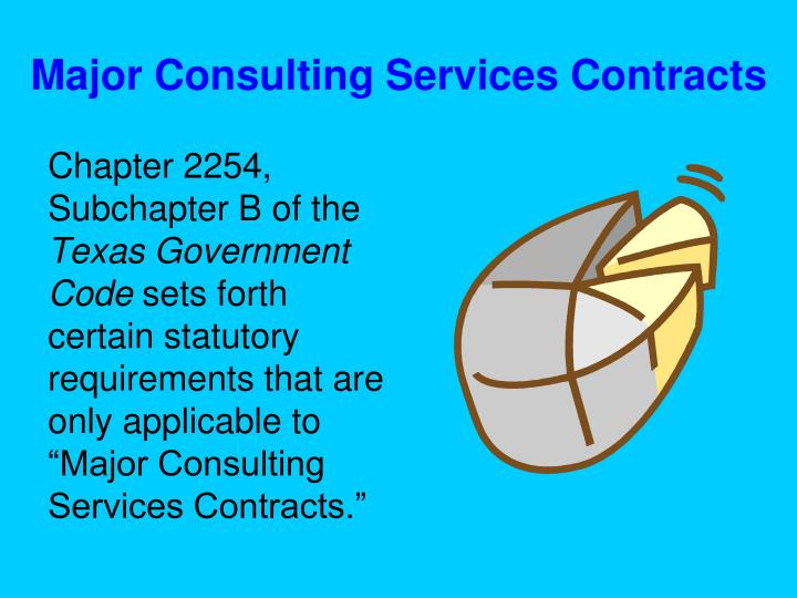 Major Consulting Services Contracts
