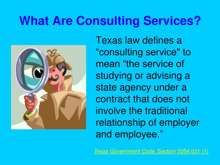 What are consulting services