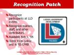 recognition patch