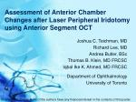 assessment of anterior chamber changes after laser peripheral iridotomy using anterior segment oct
