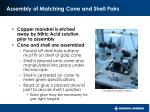 assembly of matching cone and shell pairs