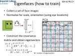 eigenfaces how to train