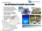 the atr national scientific user facility