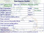 demo inspector checklist