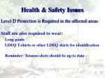 health safety issues1