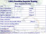 ldeq demolition inspector training2