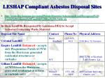 leshap compliant asbestos disposal sites1