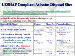 leshap compliant asbestos disposal sites2