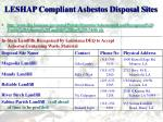 leshap compliant asbestos disposal sites3