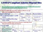 leshap compliant asbestos disposal sites4
