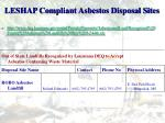leshap compliant asbestos disposal sites5