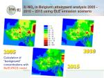 3 no 2 in belgium attainment analysis 2005 2010 2015 using cle emission scenario