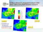 3 no 2 in belgium attainment analysis 2005 2010 2015 using cle emission scenario
