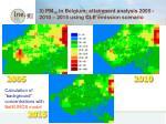 3 pm 10 in belgium attainment analysis 2005 2010 2015 using cle emission scenario
