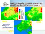 3 pm 2 5 in belgium attainment analysis 2005 2010 2015 using cle emission scenario
