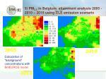 3 pm 2 5 in belgium attainment analysis 2005 2010 2015 using cle emission scenario