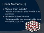 linear methods 1