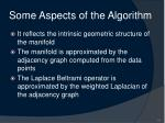 some aspects of the algorithm
