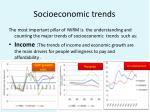 socioeconomic trends