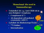 monoclonal abs used in immunotherapy
