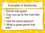 examples of sentences