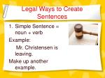 legal ways to create sentences2