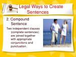 legal ways to create sentences3