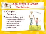 legal ways to create sentences5
