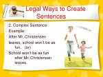 legal ways to create sentences6