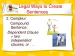 legal ways to create sentences8