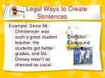 legal ways to create sentences9