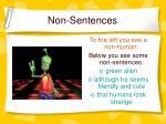 non sentences