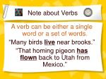 note about verbs