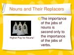 nouns and their replacers