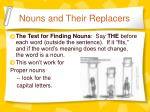 nouns and their replacers1