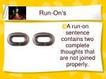 run on s