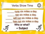verbs show time1