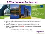 acma national conference