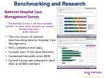 national hospital case management survey